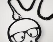 Geek Skull - Charm Necklace
