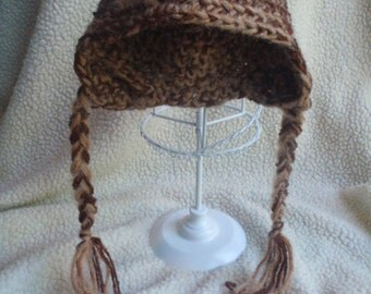 Baby Ear Flap Hat 3-6 Months Brown's