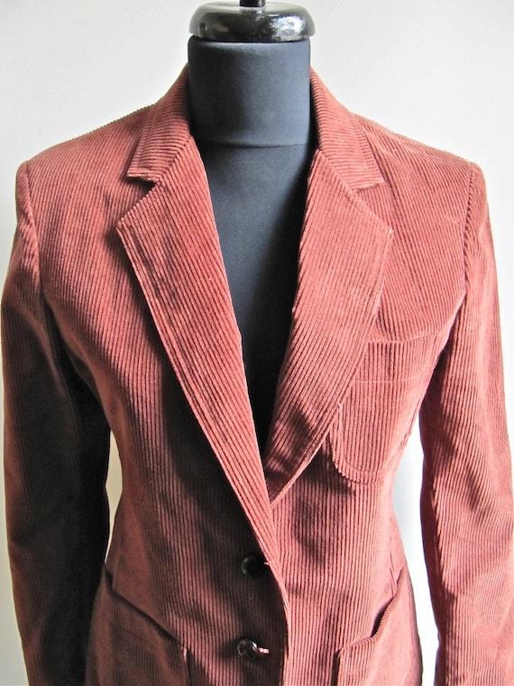 Brown Rust Corduroy Blazer Jacket Size 9 CLEARANCE
