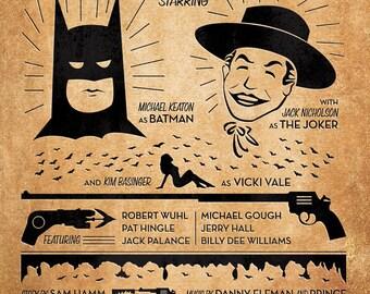 Batman 1989 - 12x16 Gig Style Print