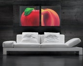 APPLE AND PEACH Original Acrylic Painting by Jack Schaar