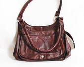 Urban Gipsy - Vintage shoulder bag, coffee brown 70s 80s