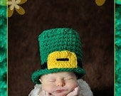 PDF Instant Download Easy Crochet  PATTERN No 263  Irish or Pilgrim Hat photo prop All sizes from  Newborn to Adult