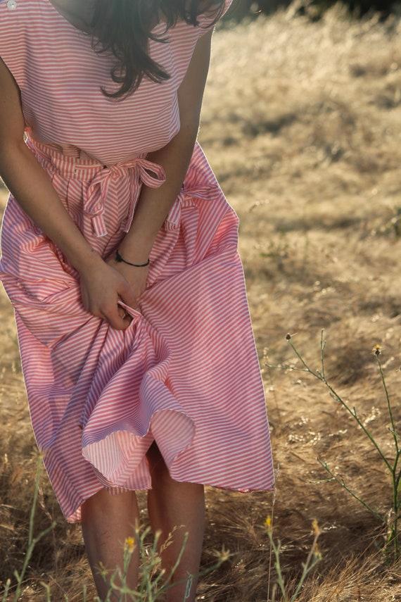 Honeysuckle Vintage Depression Era Pinafore Dress