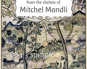 Jungle Animals - Ellephant - Zebra - GIRAFFE - Monkey - Personalized ADHESIVE Bookplate