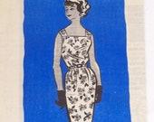 Vintage 1960s Sheath Dress Pattern Uncut  Size 12 Bust 32 Marian Martin 9175