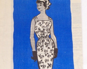 Vintage 1960s Sheath Dress Pattern Uncut  Size 12 Bust 32 Marian Martin 9175