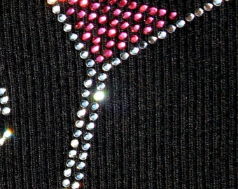 Martini Glass Rhinestone Heat Transfer (DIY)