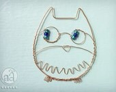 Wire Owl - Beaded Ornament - Cute and Delicate