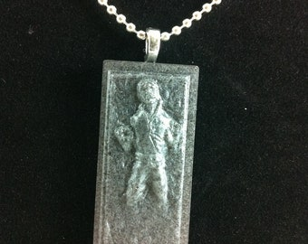 Han in Carbonite (Silver) Necklace