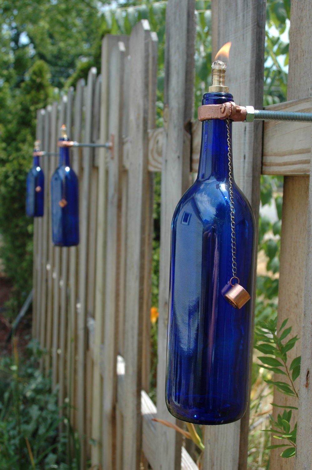 wine bottle tiki torches color choice of by pineknobsandcrickets
