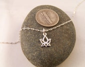 L O T U S - Sterling Silver Lotus Necklace