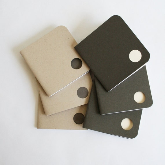 Eco Friendly Mini Sketchbooks - Note Pads - Notebooks - recycled, gifts for artists, architects, students, stocking stuffers