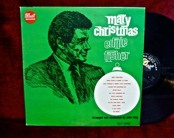 CHRISTMAS...EDDIE FISHER - Merry Christmas - 1965 Vintage Vinyl Record Album