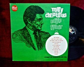 CHRISTMAS...EDDIE FISHER - Merry Christmas - 1965 Vintage Vinyl Record Album