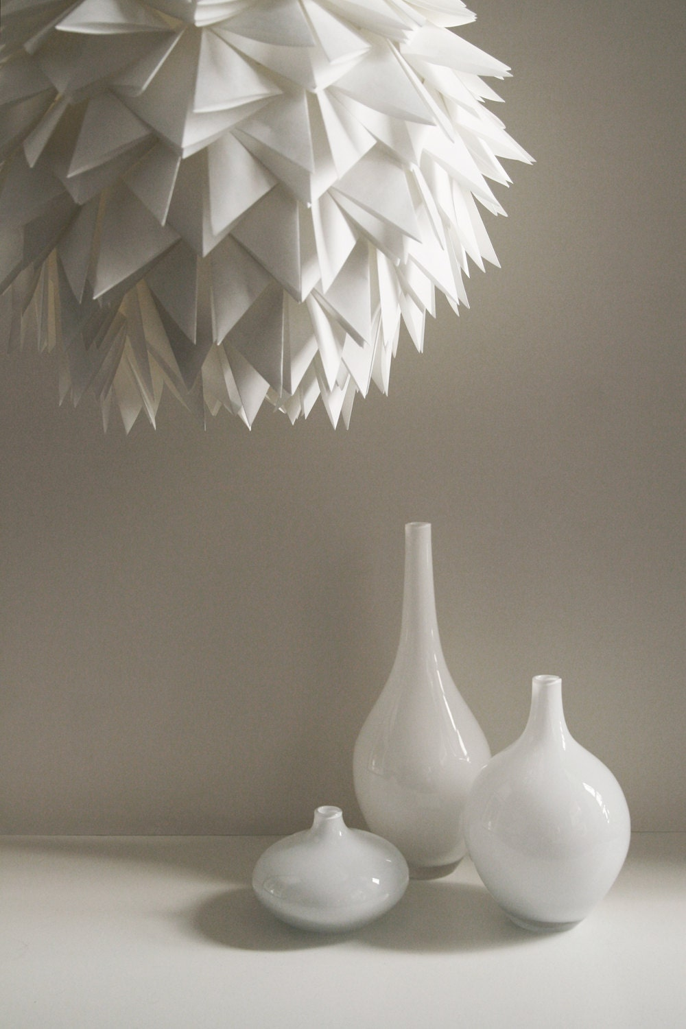 the brooks pendant light white spiky origami paper hanging. Black Bedroom Furniture Sets. Home Design Ideas