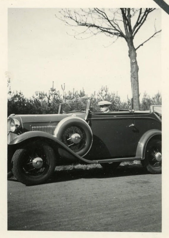"""Vintage Photo """"Ready for a Ride"""", Photography, Paper Ephemera, Antique, Snapshot, Old Photo, Collectibles - 0078"""