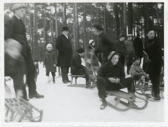 "Vintage Photo ""Winter Memories"", Photography, Paper Ephemera, Snapshot, Old Photo, Collectibles - 0081"