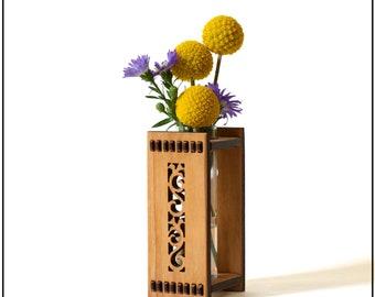 Tiny House Decor - Bud Vase - Handmade Bud Vase - Flower Bud Vase - Test Tube Vase -