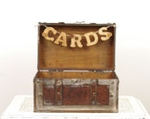 Rustic Wedding Trunk Card Box - Vintage travel and rustic style