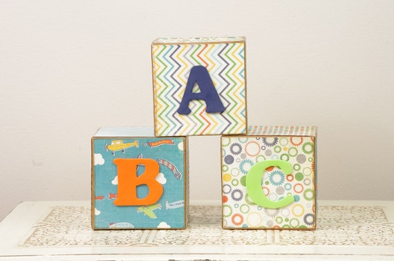 abc blocks baby boy room decor baby shower decoration custom