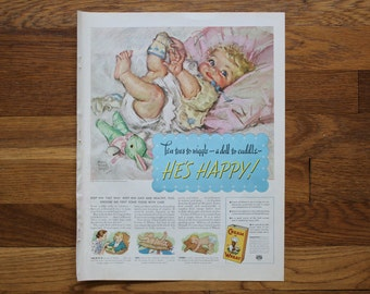 Vintage Cream of Wheat Ad / Bell Telephone Ad McCall's Magazine July 1937