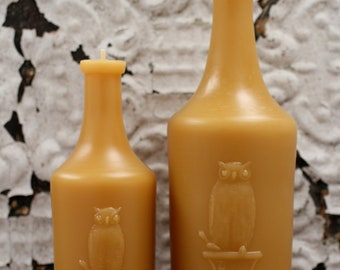Beeswax Candle Collection - Owl Duo - Lg -and- XL