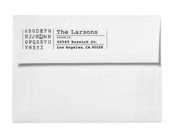Custom Address Stamp - Personalized Address Stamp - Custom Stamp - Unique Monogram Stamp - Modern - Simple - Housewarming - DIY Printing
