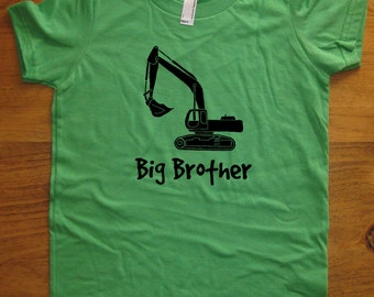 Big Brother Shirt - Kids Big Brother T Shirt - 5 Colors Available - Kids Big Brother T shirt Sizes 2T, 4T, 6, 8, 10, 12 - Gift Friendly