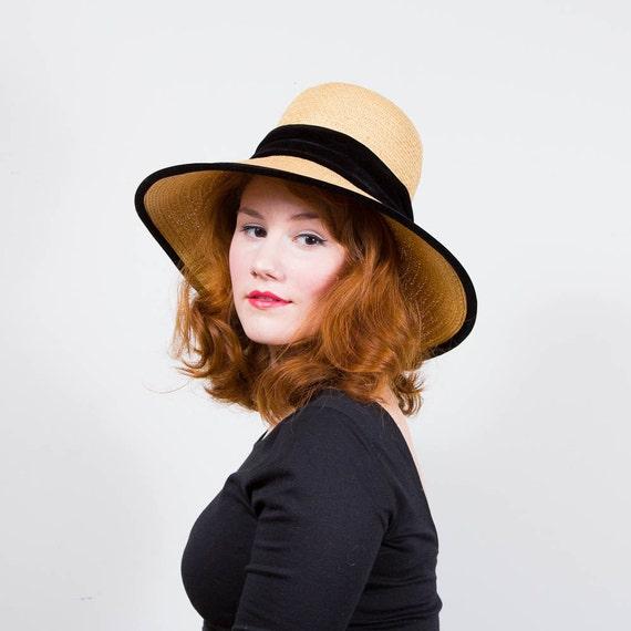vintage 1960s hat / straw hat / Mr. John