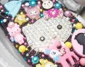 RESERVED for Jill - Diamond Kitty Rainbow Galaxy S III Deco Case
