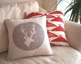 Stag Deer Cross Stitch Pattern PDF Pillow Cover