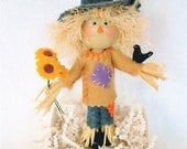 Scarecrow Art Doll, Clothespin Doll, Fall Decor, Halloween Peg Doll,  No Brains Pegtales