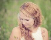 Mini Birdcage Veil - Bridal Veil - White or Ivory Black Bridal Blusher - Bandeau Wedding Veil - Russian Netting - Made to Order