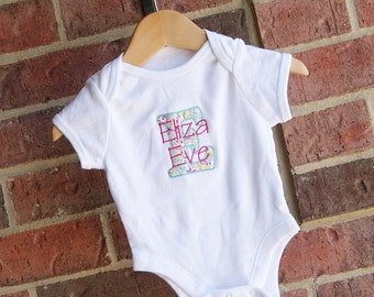 Personalized Bodysuit, Personalized Onesie, Baby Girl, Baby Boy, Bodysuit, Coming home, Baby Shower, Gender Reveal, Baby Shower Gift