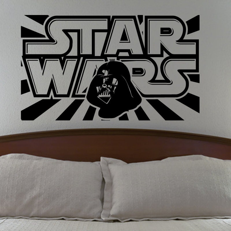 Star Wars Wall Decal With Darth Vader Vinyl Sticker Boys