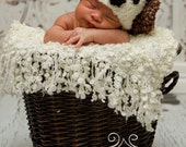 Baby Puppy Hat-Newborn Photo Prop or Halloween Costume-Choice of 2 color combos
