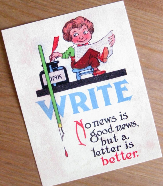 WRITE: A Letter is Better postcard set, pack of 5