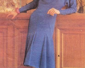 1980s Chloe Womens Princess Seam Flared Dress Vogue Paris Original Sewing Pattern 1503 Size 10 Bust 32 1/2 Vintage Designer Patterns