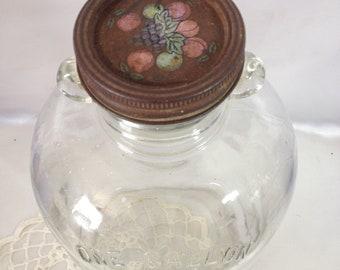 Glass Jug Rusty Old Glass Jar Ball Jar