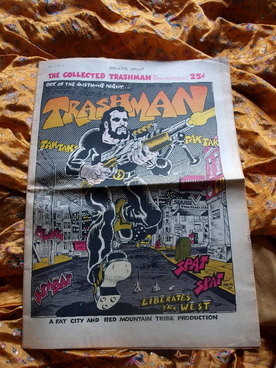 Trashman No 1 Comix 1969 The Collected Trashman Spain Rodriguez Comic Book Newspaper Very Fine