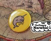 BIGFANCY Button - Yellow is Fancy Narwhal