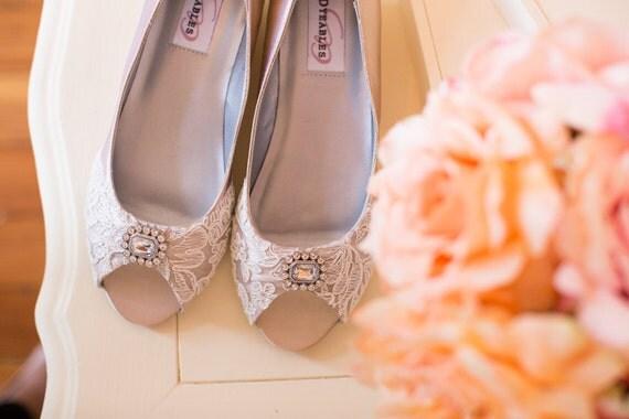 Wedge Heel Shoes For Wedding: Wedding Shoes Wedge Heel Low Heel Bridal Shoes Embellished