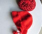 70s Italian Red Tassel Hat -- Oui Oui Bellissima