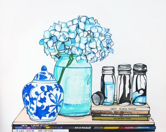 Limited Ed. Canvas Art Print  'The Accidental Vignette No.3' (Hydrangeas) Carly Dirie