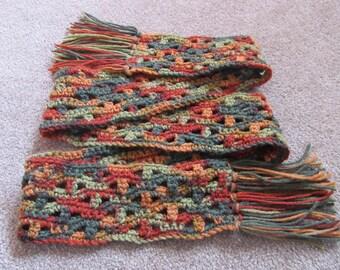 Autumn Scarf, Fall Colors, Crochet