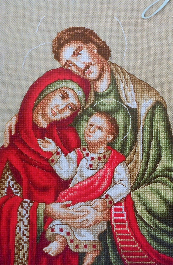 Marie Barber THE NATIVITY Holy Family Eastern Orthodox Art - Counted Cross Stitch Pattern Chart - fam