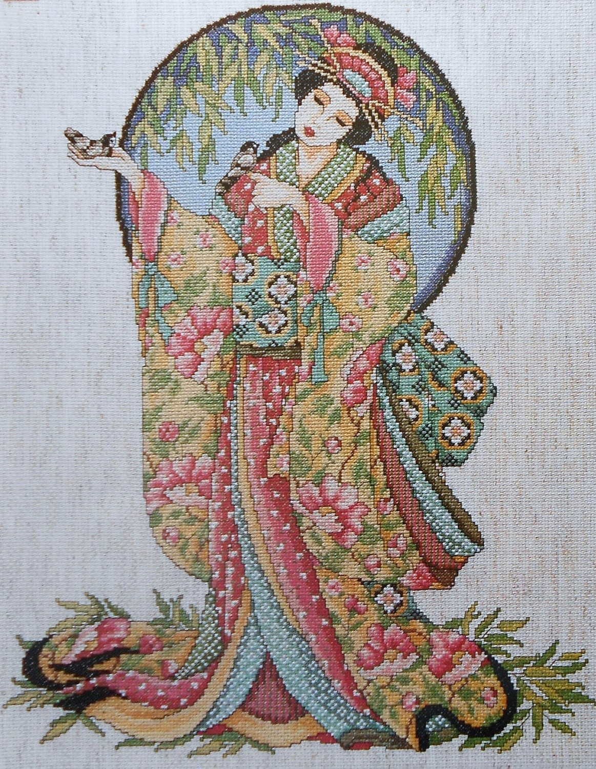 Joan Elliott Geisha Oriental Lady Grace By Thepamperedstitcher