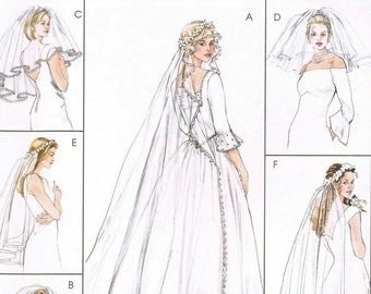 Bridal Wedding Veils Patterns McCalls 4126 (All sizes)