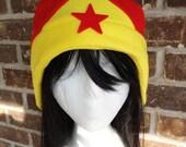 Wonder Women Hat - Adult-Teen-Kid - A winter, nerdy, geekery gift!